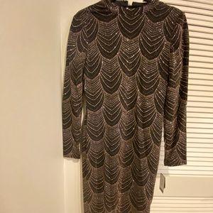 BRAND NEW Nine West midi sparkly dress
